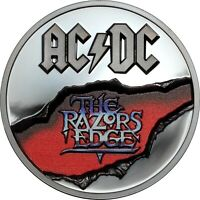 AC/DC – The Razors Edge 2 oz silver coin black proof  Cook Islands 2019 in OGP