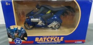 Corgi Batman Batcycle 1:16 Scale Die-Cast Motorcycle With Figure 2000 Blue (MIB)