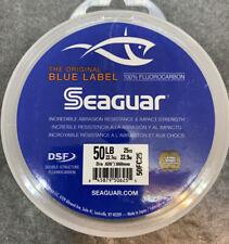 Seaguar Blue Label Fluorocarbon Leader Fishing Line 25 Yards 50lb