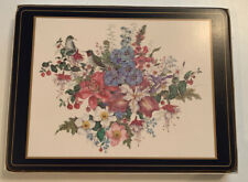 Pimpernel Classic Set Of 6 Place Mats - Birds & Flowers