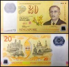Singapore $20 Polymer 40th Commemorative 1967-2007 (UNC)