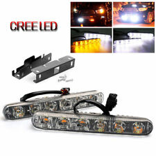 Sequential Car DRL Day Running Turn Signal Lights Daytime Fog Lamp White Amber