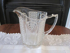 SCARCE LARGE CROWN CRYSTAL SERIES 39 DIAMOND ARCHES DEPRESSION GLASS JUG