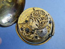 Pre-1800 Antique Solid Silver Pocket Watches, Chains & Fobs