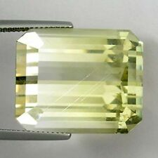 60.87 ct GIT Certified ~  EXTREMELY RARE UNHEATED RAINBOW RUTILE YELLOW TOPAZ !