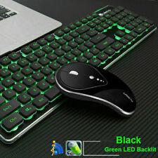 2.4G Wireless Rechargeable Gaming Keyboard Mouse LED Backlit Ergonomic LT600  UK