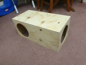 Large Hide Hideaway Tunnel for Guinea Pigs and Rabbit House Shelter 24'x12'x10'