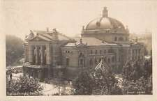 Oslo Norway National Theater Real Photo Antique Postcard K18588