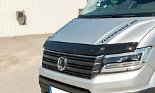 VW Crafter Bonnet Protector Bug Guard Solid Acrylique Noir 2017-2018 Neuf Forme