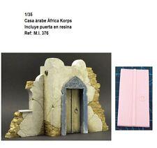 WWII Diorama casa árabe africa korps puerta resina 1/35 accessorie building ruin