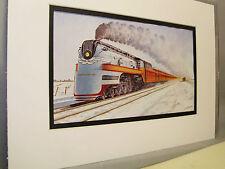Chicago Milwaukee The Hiawatha Americas Fastest  Artist Railroad Archives bt