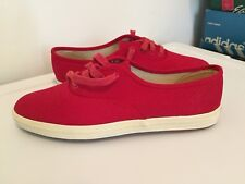 Live Action Sports Red size 7.5 canvas vtg women's pointy toe tennis shoes korea