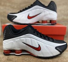 2019 Nike Shox R4 OG Platinum Tint University Red Black Shoes Mens Sneakers