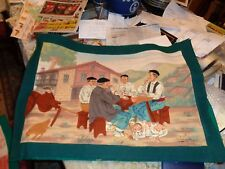 Original de Pa Campa :Mixed media painted on canvas-Bilboa Spain, Matadors& card