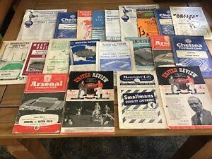 21 x 1950,s Football Programmes.