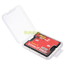 Dual Slot Micro SD TF to CF Adapter Extreme Compact Flash Type I Card Converter