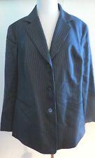 Lafayette 148 NAVY Blue Color Striped Print Long Sleeve Lining Jacket Size 14