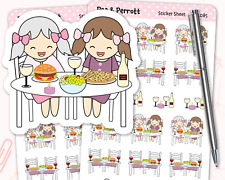 Dinner/Lunch Date Personalised Planner Stickers - Journal, Diary, Stationery