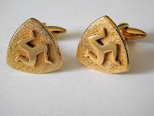 Vintage cufflinks Manx triskelion 3 legs Isle of Man Celtic symbol vintage 1970s