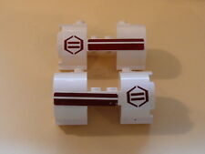 Lego 2 cylindres blancs / 2 white cylinder left and right set 8085