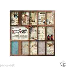 Papermania 12x12 Papel Scrapbooking Madame payraud 32 Hoja in16 Diseños 160gsm