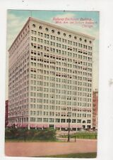 Railway Exchange Building Mich Ave Chicago Vintage Postcard USA 512a