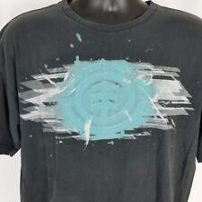Element Skateboard Mens XL Black T Shirt Earth Wind Water Fire Short Sleeve
