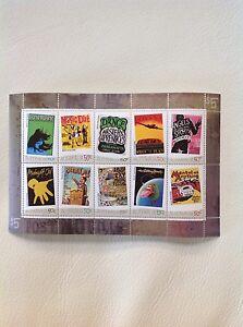 2006 Rock Posters set of 10 in Mini Sheet MUH/MNH