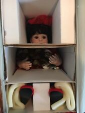 """MARIE OSMOND """"Baby Annette Holiday"""" 15"""" Seated Porcelain Doll! NEW IN BOX!"""