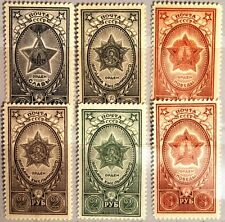Russia Unione Sovietica 1945 948-50 A-B-C Orden medaglie URSS order Medals MNH MLH