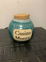 Casino Money Ceramic Jar With Cork Lid By Tumbleweed Pottery Stoneware