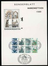 Berlin H-Blatt 23 gestempelt SWK 1989 auf Sonderblatt (38786)