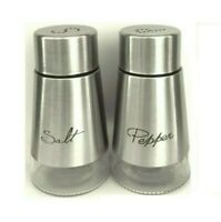Salt & Pepper Silver Set Stainless Steel Jar Pot Shaker Smooth & Easy To Grip