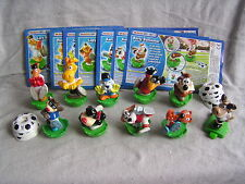 KINDER SURPRISE SET THE MAGIC SPORT FERRERO FOOTBALL FIGURES CAKE TOPPER +PAPER