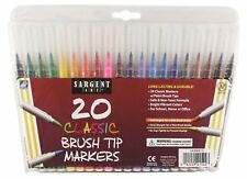 Sargent Art Classic Markers - Brush Tip - 20 count