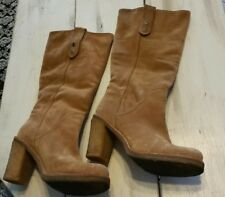 UGG JOSIE beige Stout 3214 Suede Tall Fashion Boots SZ 6 eu 37 Authentic