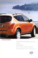 2003 03 Nissan Murano original sales brochure mint
