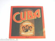 ADESIVO anni '70 vintage / Old Sticker GIBSON BROTHERS (cm 9x9) gruppo musicale