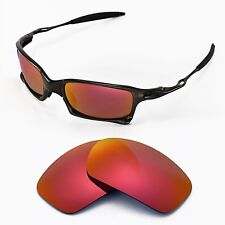 New Walleva Polarized Fire Red Lenses For Oakley X-Squared