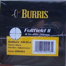 Burris Fullfield ll 6.5-20x50mm Rifle Scope Ballistic Mil Dot *NIB*