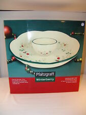 Pfaltzgraff Winterberry Chip & Dip 2 piece Set NIB