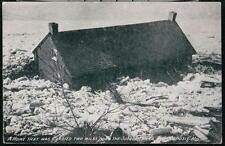 PORT DEPOSIT MD Ice Gorge Flood 1910 Antique Postcard Vtg Susquehanna River