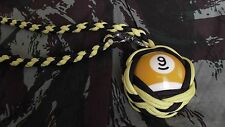 "Boule Billard N°9 ø52 mm Lanyard ""Self Defense/Survie"""