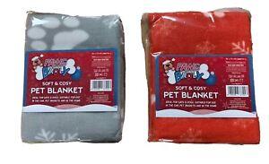 CHRISTMAS SOFT FLEECE CHRISTMAS PRINT PET CAR BLANKET DOG PUPPY CAT BED