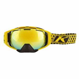 Klim Oculus Diamond Fade Yellow Mens Winter Sports Snowmobile Goggles