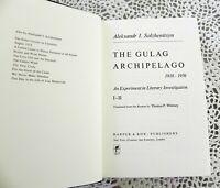 Gulag Archipelago by Aleksandr Solzhenitsyn Stated 1st Edition Hardcover