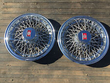 "14"" Oldsmobile Cutlass Wire Spoke Hubcaps Wheel Covers"