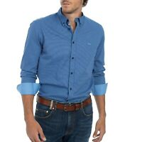 Harmont & Blaine CRE015011166M Camicia da Uomo Puro Cotone Blu F/W 20-21 -25%