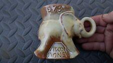 VINTAGE FRANKOMA CERAMIC ELEPHANT GOP REPUBLICAN MUG 1973 Nixon / Agnew