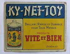 Ancienne tôle publicitaire KY-NET-TOY - VITE et BIEN métaux - MIROR - asiatique